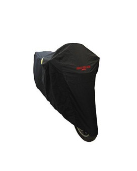 Badass Moto Gear All Wx Ultimate Waterproof Motorcycle Cover. Heavy Duty, Night Reflective, Windshield Liner, Heat Shield, Vents, Lock Pockets, Taped Seams (97€ Fits Cruisers, Touring Bikes) LARGE
