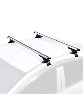 """AUXMART Universal Roof Rack Crossbars Width Less than 48"""" Adjustable for Most Vehicle Wagon Car without Roof Side Rail (Pack of 2) 150LBS/68KG Capacity"""