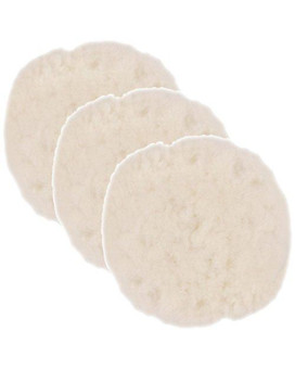 TCP Global 3 Pack of 7 Synthetic Wool Blend Polishing Pad Bonnets