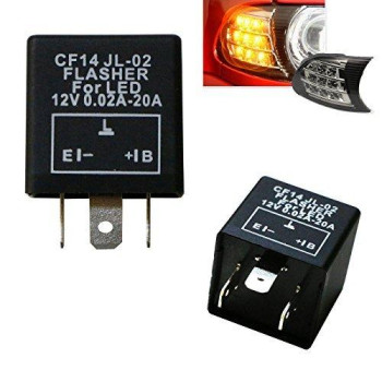 iJDMTOY (1) 3-Pin CF14 EP35 Electronic LED Flasher Relay For LED Related Turn Signal Bulbs Hyper Flash Fix