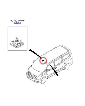 Sell by Automotiveapple, Hyundai Motors OEM Genuine 928704H000TX Gray Overhead Console Lamp 1-pc For 2007 ~ 2015 Hyundai i800 H1 iMax : Grand Starex