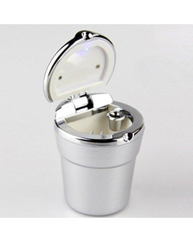 WINOMO Auto Car Smokeless Stand Cylinder Cup Holder Cigarette Ashtray(Silver)