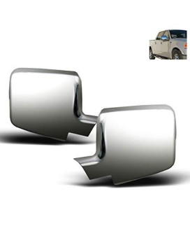 Zmautoparts Ford F150/+ Lincoln Mark Lt Side Mirror Cover Trim Moulding Bezel Chrome
