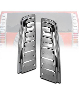 Zmautoparts Hummer H2 Rear Upper Tail Light Lamp Vent Cover Guard Trim Chrome