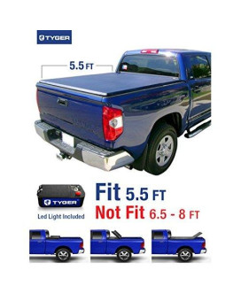 Tyger Auto T3 Tri-Fold Truck Bed Tonneau Cover Tg-Bc3T1432 Works With 2014-2019 Toyota Tundra   Fleetside 5.5' Bed   For Models With Or Without The Deckrail System