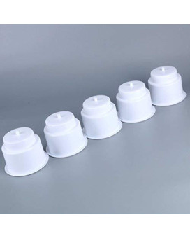 (Set of 5) Amarine-made White Recessed Drop in Plastic Cup Drink Can Holder with Drain for Boat Car Marine Rv (White)