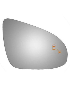 2012-2016 Toyota Avalon, 2012-2014 Toyota Camry Convex Passenger Side Power Replacement Mirror Glass With Lasered Holes To Use With Factory Blind Spot Detector