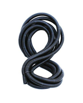 """DNF 20FT Split Wire Loom Conduit Polyethylene Tubing 5/8"""" ,sleeve, sheathing, cover, ribbed for strength. Automobile, Motorcycle, RV, Trailer, Electronics"""