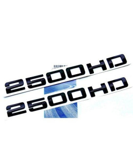 Yoaoo?? 2pcs OEM Black 2500HD 2500 HD Nameplates Emblems Badges Alloy Glossy for Gm Silverado Sierra