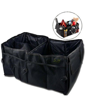Zento Deals Black Multipurpose Foldable Vehicle Organizer