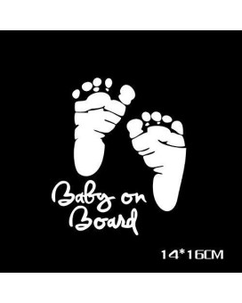 Yosoo Baby On Board Sign Of Baby In Car Auto Safety Warning Reflective Car Sticker Decal (Foot Print)