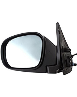 Fits From 11/00-03 Inf QX4 Left Driver Power Mirror Unpainted W/Heat, Blue Glass