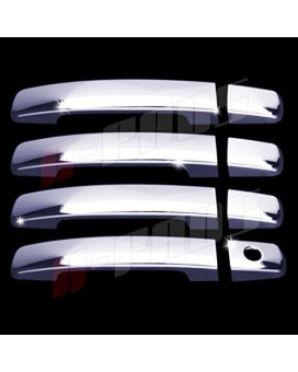 A-Pads 4 Chrome Door Handle Covers For Nissan Altima 2007-2013 / Frontier 2005-2017 / Maxima 2004-2008 / Quest 2004-2009 / Sentra 2007-2012 - Without Passenger Keyhole &Amp; Smart Keyholes