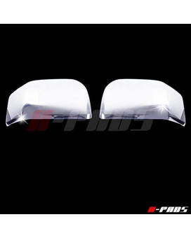 A-Pads Chrome Mirror Covers For Ford F150 2015 2016 - Top Half Chromed Mirrors Pair