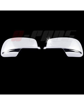 A-Pads Chrome Mirror Covers For Dodge Journey 2009-2015 - Full Mirrors Pair