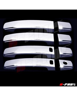 A-Pads 4 Chrome Door Handle Covers For Nissan Altima 2007-2013 / Frontier 2005-2016 / Maxima 2004-2008 / Sentra 2007-2012 - With Smart Keyholes &Amp; Without Passenger Keyhole