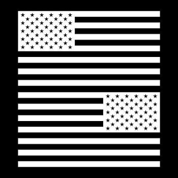 """Yoonek Graphics American Flag United States Decal Sticker For Car Window, Laptop, Motorcycle, Walls, Mirror And More. # 816 (6"""" X 11.4"""", White)"""