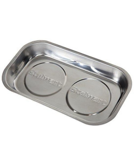Stalwart 75-HT5001 Stainless Steel Rectangular Magnetic Parts Tray, 9 x 5""