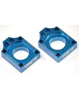 BILLET REAR AXLE BLOCKS CR 125 250 R CR125 CR250 CRF250 CRF450 BLUE