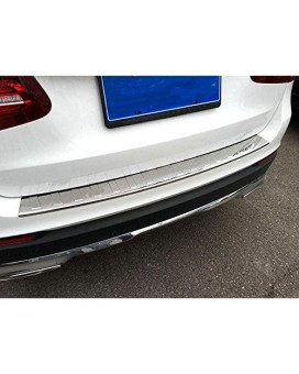 YUZHONGTIAN 2015 2016 2017 2018 2019 For Mercedes Benz GLC-Class X253 Rear Outer Bumper Guard Sill Plate Protector Steel Chrome