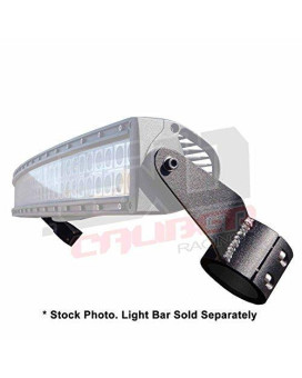 "50 Caliber Racing Bracket Mounts For 40"" Curved LED Light Bar - Fits Polaris RZR XP 1000, S 1000, S 900"