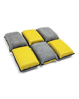 Autofiber Upholstery And Leather Microfiber Scrubbing Sponge (6 Pack)