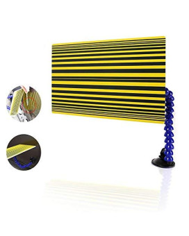 WHDZ PDR Tool PDR Line Board Reflector Board with Adjustable Holder - Automotive Paintless Dent Repair Tools (Yellow)