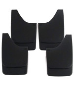 Premium Heavy Duty Molded Universal Mud Flaps Guards Splash Front And Rear Set 4Pc