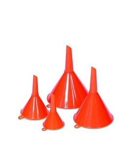 WirthCo 32837 Orange Funnel King Economy Funnel, 4 Pack (3/4 oz, 2 oz, 6 oz, 10 oz)