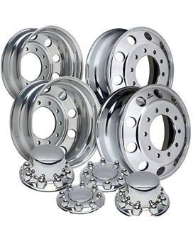 "Accuride 19.5"" Polished Dual Wheel Package fits Ford F450 & F550 (2005 - current)"