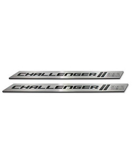 American Brother Designs ABD-3202PX8392 Black Door Sill, Set of 2 (Color Matched Color-Black-Paint Code PX8, Challenger 392 HEMI Logo)