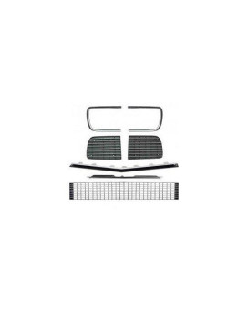 1967-68 Camaro Rs Grill Kit Without Headlight Bezel With Silver Trim