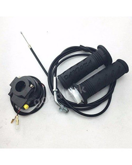 """Twist Grips Throttle Cable 75"""" Kill Switch for Stand Up Gas Scooter 43cc 49cc"""