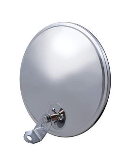 """United Pacific 60035 Stainless Steel 8 1/2"""" Convex Mirror - Offset Stud"""