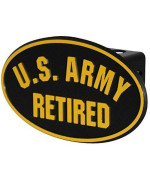 US Army Retired ABS Hitch Cover with Quick Loc