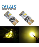 194 LED Bulb Canbus Error Free T10 168 194 2825 Yellow Bulbs for 12V Car Interior Dome Map wedge License Plate Lights(Pack of 2)