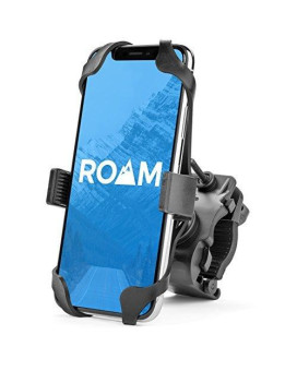 """Roam Universal Premium Bike Phone Mount for Motorcycle - Bike Handlebars, Adjustable, Fits iPhone X, 8 