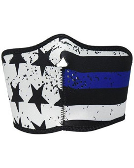 Zanheadgear Neoprene Half Face Mask, Thin Blue Line