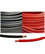 4 Gauge 4 AWG 5 Feet Black + 5 Feet Red Welding Battery Pure Copper Flexible Cable Wire -- Car, Inverter, RV, Solar