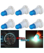 Cciyu 6 Pack Ice Blue T4/T4.2 Neo Wedge Halogen Bulb For Dash A/C Climate Control Instrument Cluster Panel Dashboard Gauges Light