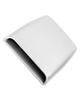 Zyhw Air Flow Scoop Bonnet Vent Decorative Cover Intake Hood Silver Tone