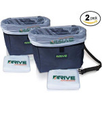 Drive Auto Products Car Garbage Can (2-Pack) by from The Drive Bin As Seen On TV Collection, Black Strap