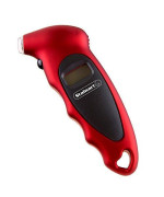 Digital Tire Air Pressure Gauge, Easy to Read LCD Display with 4 Ranges Best for Car Trucks and Bicycles, Fast and Accurate Readings by Stalwart- Red