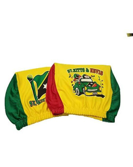 St Kitts &Amp; Nevis Headrest Cover Flag Fit For Cars Vans Trucks-Sold By A Pairs