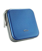 ZYHW Auto Car CD VCD DVD Organizer Square Case Storage Holder Blue