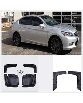 Viogi New Set Of 4 Front &Amp; Rear Mud Flaps Guards Splash Flares+Screws+Clamps Without Flares Rear For 12-15 Honda Civic Sedan