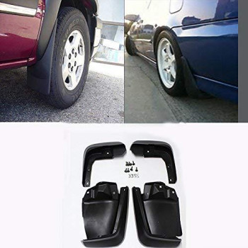 Viogi New Set Of 4 Front &Amp; Rear Mud Flaps Guards Splash Flares+Screws+Clamps Without Flares Rear For 06-11 Honda Civic Sedan