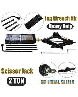 Spare Tire Tools Kit + Scissor Jack Set Fit For Chevrolet Chevy GMC Silverado Sierra - With Carrying Case Bag