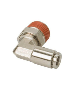 """VIAIR 11446 1/4"""" NPT(M) to 1/4"""" Airline 90 Degree Swivel Elbow Fitting (DOT Approved), 2 Pack"""