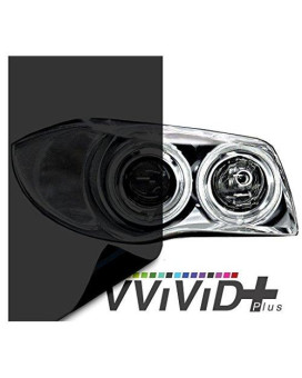 "VViViD Air-Tint Dark Black Headlight/Tail Light Window Tint (17.9"" x 60"" large roll)"